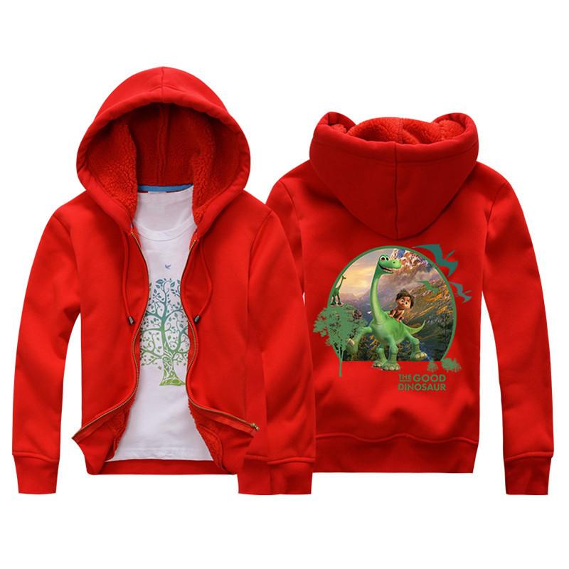 Jiuhehall 3-7 yrs Children Jackets 2016 New Winter Dinosaur Berber Fleece Coats Kids Thicken Warm Hooded Zipper Outwear JCM017 (1)