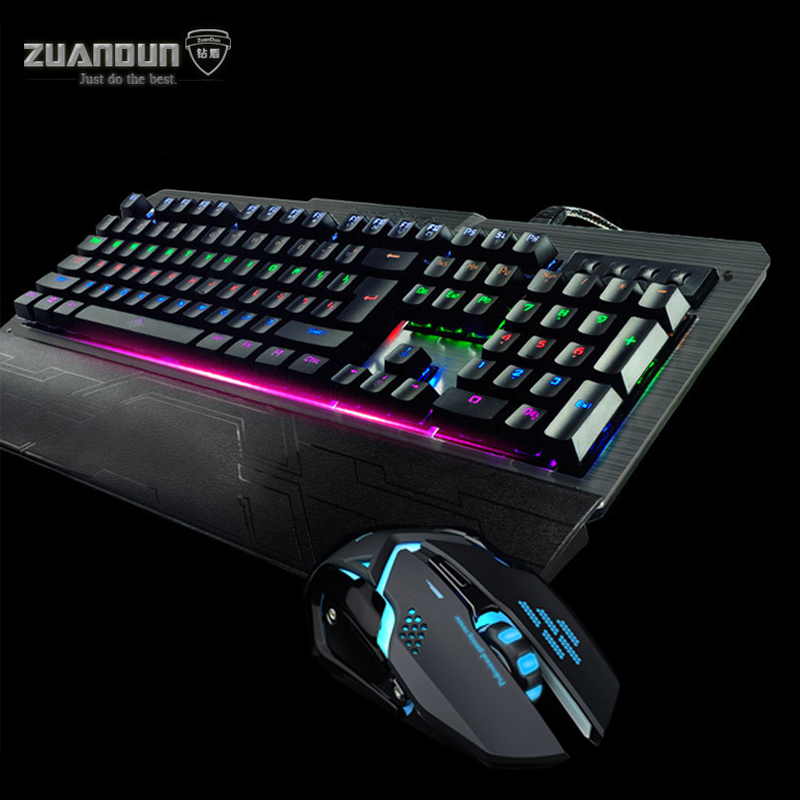 Motospeed CK104 Blue Switch Mechanical keyboard Mouse Combos for Laptop Computer Gamer Gaming Keyboard Mouse USB Wired Mice