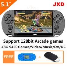 JXD 48 ГБ 128 бит портативная игровая консоль 5,1 дюймов MP4 игровая консоль Встроенная 9450 игра для Аркады/gba/gbc/snes/fc/smd подарок для детей