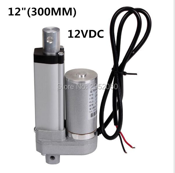 ФОТО Low Noise Electric Linear Actuator 12v DC Motor 300mm Stroke Linear Motion Controller 6mm/s