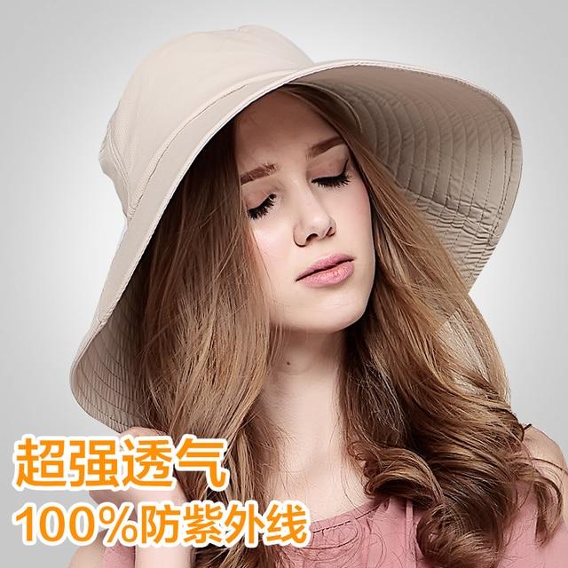 2016 New Summer Women Adjustable Sun Bucket Hats Printed Floral Foldable Beach Caps Wide Brim Sun Hat Visors B-2288