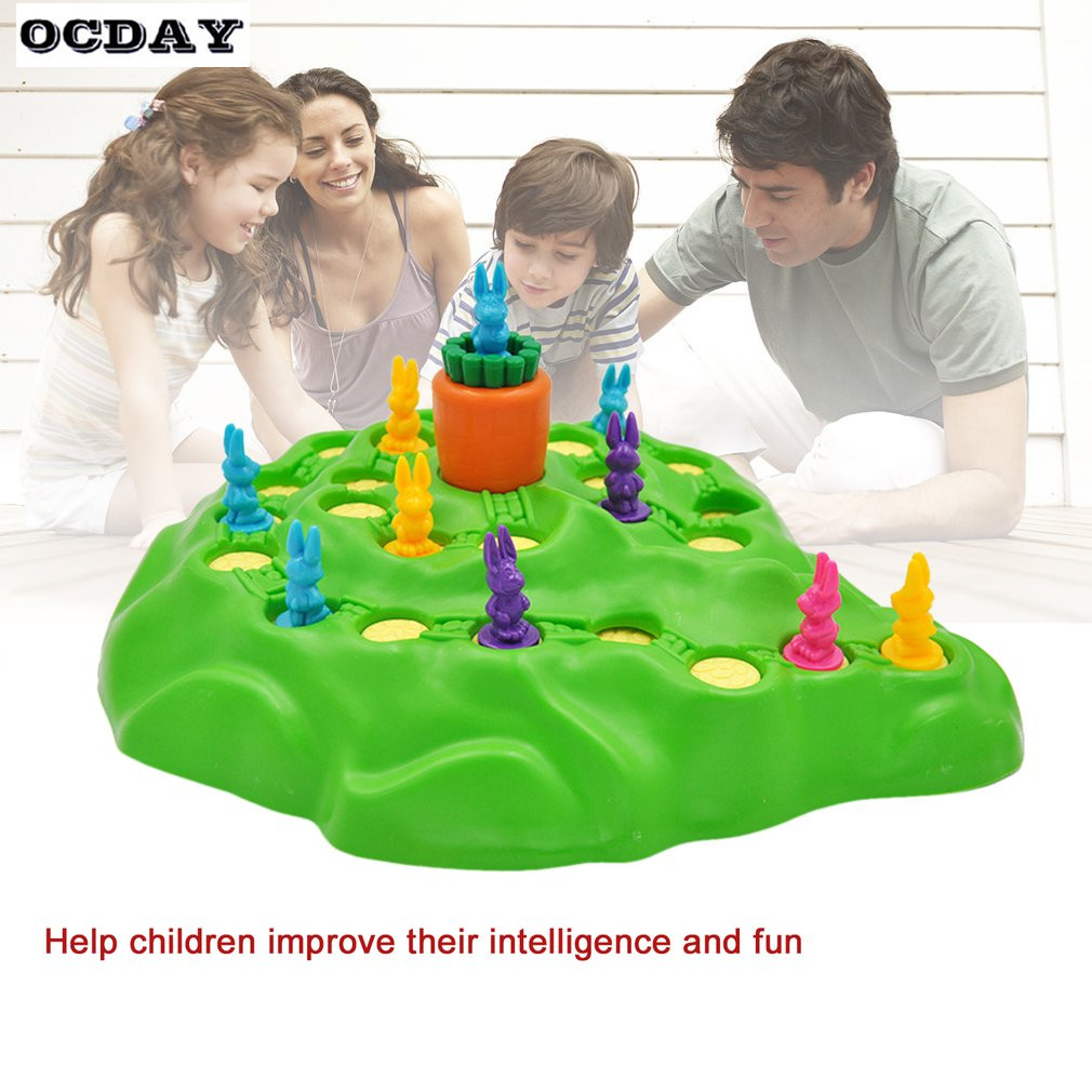Rabbit Competitive Game Trap Game Play Chess Children Toys Family Fun Game Early Childhood Educational Toy For Birthday Gift baby educational toys montessori stamps game wooden toys child educational math toy stamps game early development birthday gift