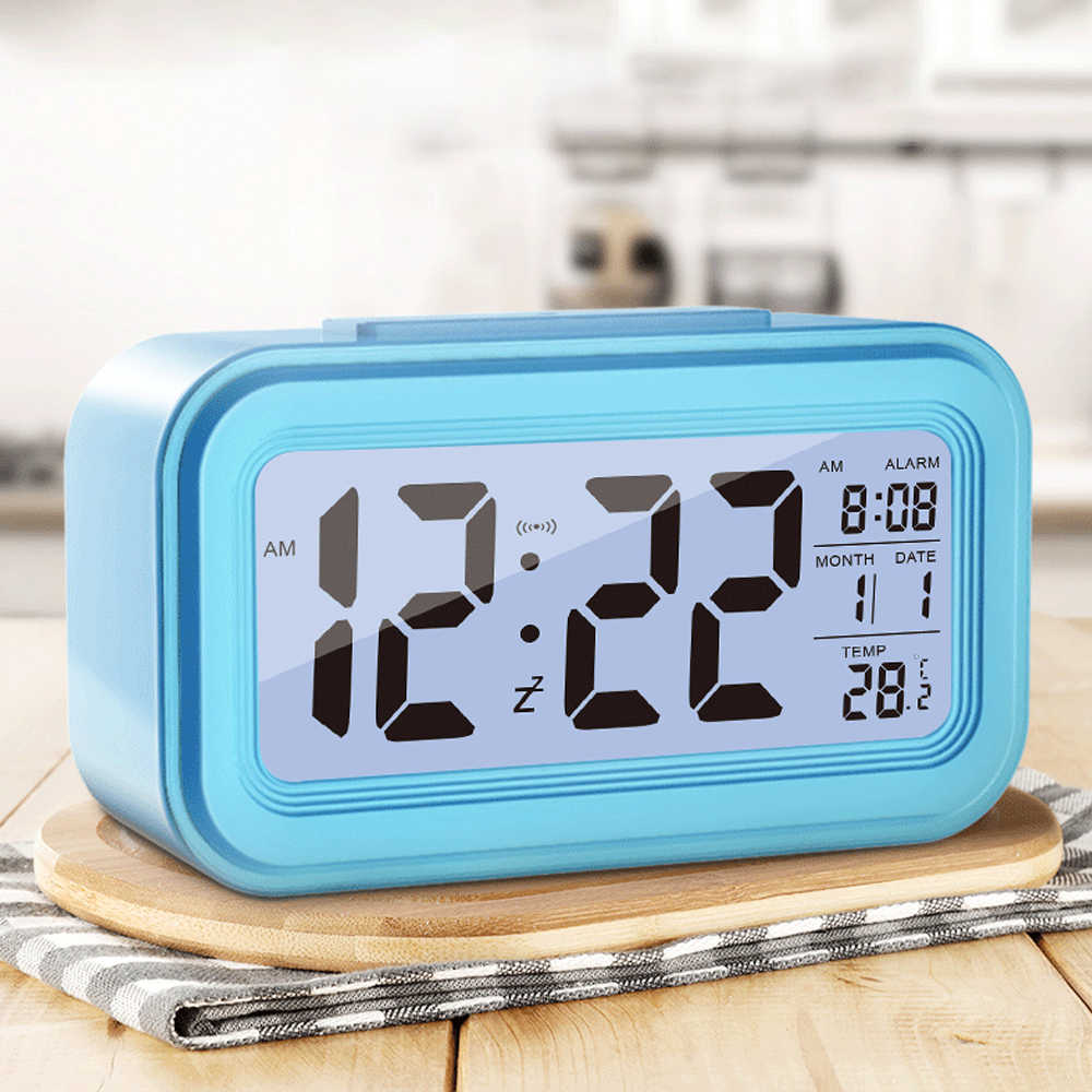 Large LED Digital Alarm Clock Temperature Display For Home Office Travel Deskto Decoration Clock