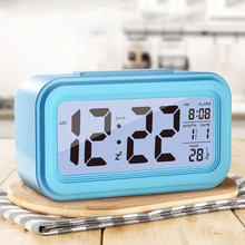 Large LED Digital Alarm Clock Temperature Display For Home Office Travel Deskto Decoration Clock(China)