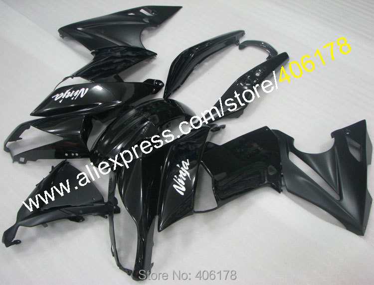Hot Sales,All Black Moto Fairings For Kawasaki ER6F Fairing Ninja 2009-2011 650R ER6F 650 ER 6F 09-11 Motorycycle Fairing kit
