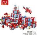 Modelo kit de construcción Bangbao compatible con lego aficiones de bomberos de la ciudad bloques 3D modelo de construcción de juguetes Educativos para niños