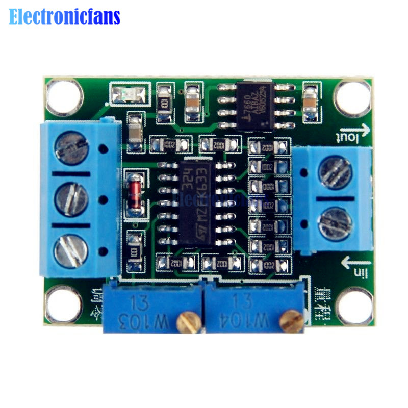 DC 7V-35V 0-2.5V 3.3V 5V 10V 15V Current to Voltage 4-20mA to 0-5V Isolation Transmitter Signal Converter Module