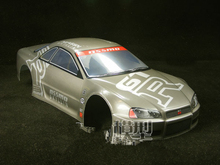 S072 GTR 1/10 1:10 PVC painted body shell for 1/10 RC hobby racing car 2pcs/lot free shipping