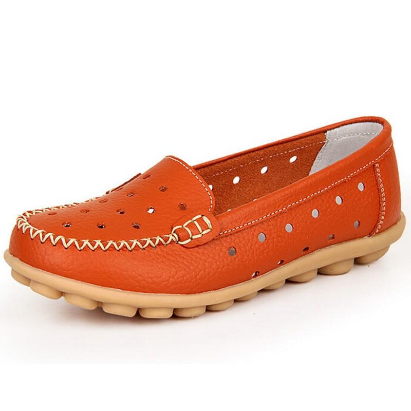 Verano estilo mujeres pisos nuevo diseñador transpirable resbalón en los zapatos