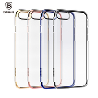Cover For Apple IPhone 7 7 Plus Case Original Baseus Plating Frame TPU Board Phone Case