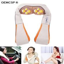 OEMCSP Car/Home Neck Massager Electrical Shiatsu Shoulder Back Body Massagers Infrared Car 3D Pillow 220V/110V fit