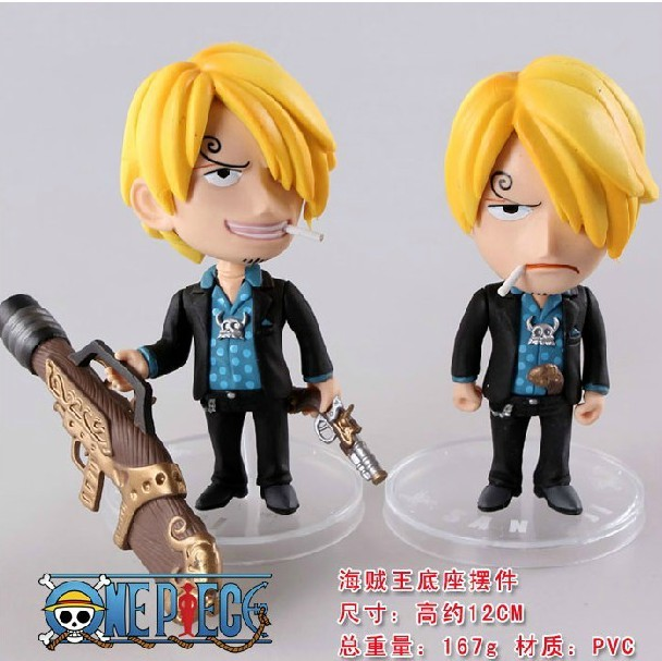 One Piece Sanji 2pcs/set PVC Anime Action Figure Model Toys 4.5″ 11cm