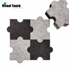 Visual Touch 6pcs Set Felt Polyester Puzzle Cup Mat Jigsaw Drink Coasters Beer coffee Placemat Table Decorations Housewarming
