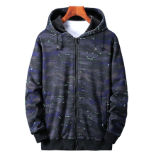 b Camouflage coat winter men plus size 6XL-8XL jacket men's cardigan plus velvet zipper hoodie men loose cotton jacket