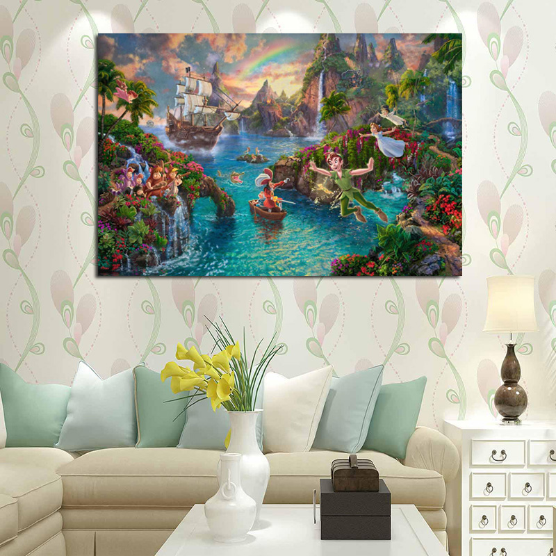 Peter Pan Thomas Kinkade Canvas Painting Prints Bedroom Home Decoration Artwork Modern Wall Art Oil Painting Posters Accessories Buy At The Price Of 3 66 In Aliexpress Com Imall Com
