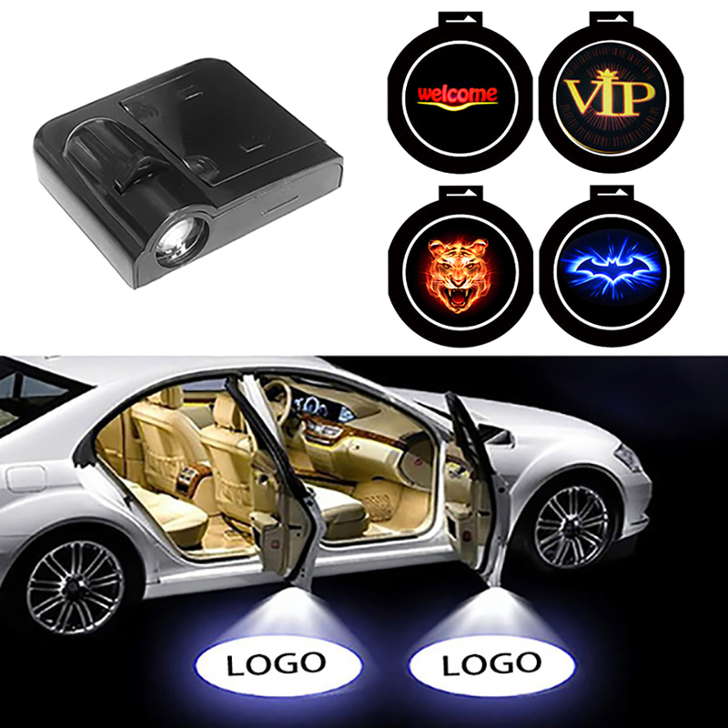 1PCS Wireless Led Car Door Welcome Laser Projector Logo Ghost Shadow Light For Volkswagen For Ford For BMW For Toyota ForVW