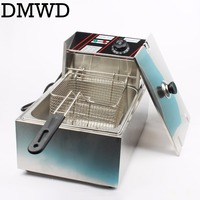 Electric Deep Fryer Multifunctional Household Commercial Stainless Steel Grill Frying Pan French Fries Machine Hot Pot