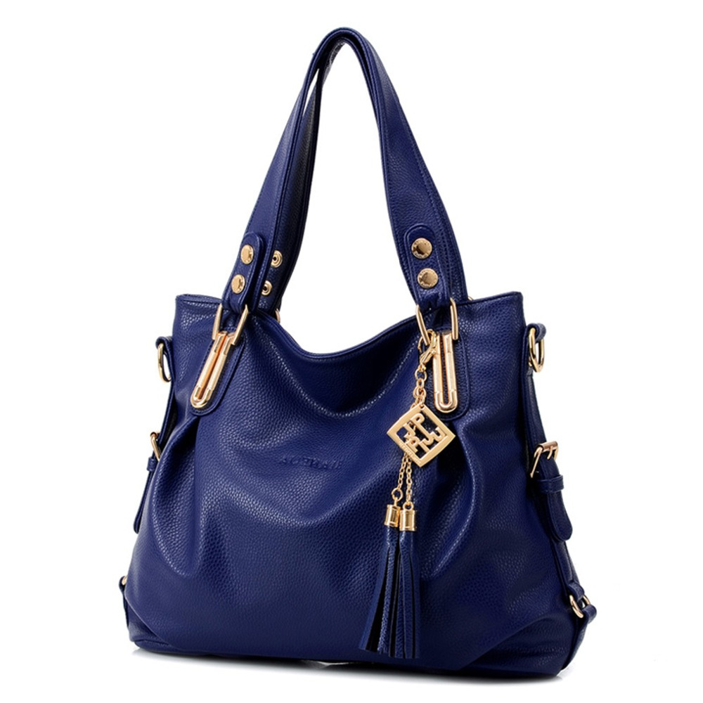 2017 New Ladie's Bag Fashion Solid Color Waterproof Wild Shoulder Bag middle-aged Women Handbag Portable Diagonal Cross-bag Bag