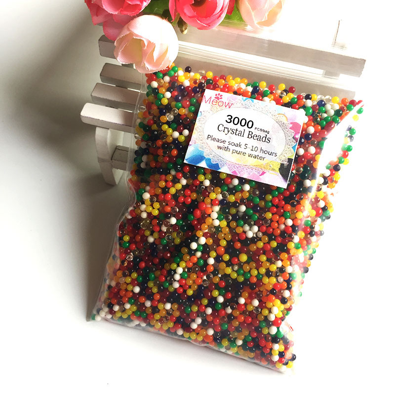 3000pcs 2.5-3.0mm Crystal Soil Hydrogel Balls Pearl Shape Water Beads Gel Jelly Beads Decorative Flower Wedding Home Decor