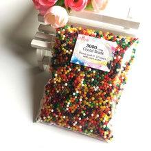 Bolas de hidrogel para solo, 3000 peças de 2.5-3.0mm, bolas de hidrogel de cristal, bolas de água em formato de pérola, gel, miçangas de gelatina, decorativa, para casamento decoração de casa
