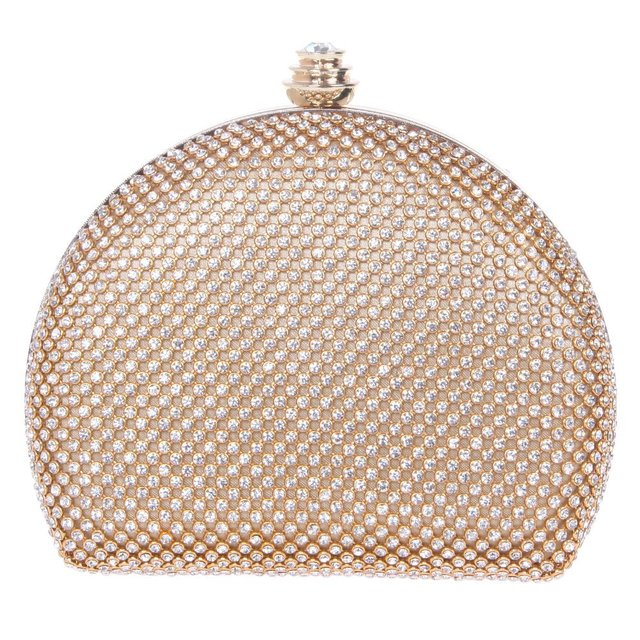 dded750b0e5 US $53.32 |Half Moon Shape Clutch Bag Bridal Clutch Purses For Women Mini  Crystal Clutch Evening Bag L080-in Evening Bags from Luggage & Bags on ...
