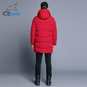Image 4 - ICEbear 2019 Hot sprzedaż zima ciepłe  mężczyzn ciepłe  kurtka parki wysokiej jakości Parka moda na co dzień płaszcz MWD18856D