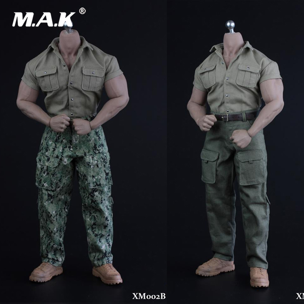 1//6 Soldier Figure Tactical Combat Pants Trousers With Belt F 12/'/' Male Body