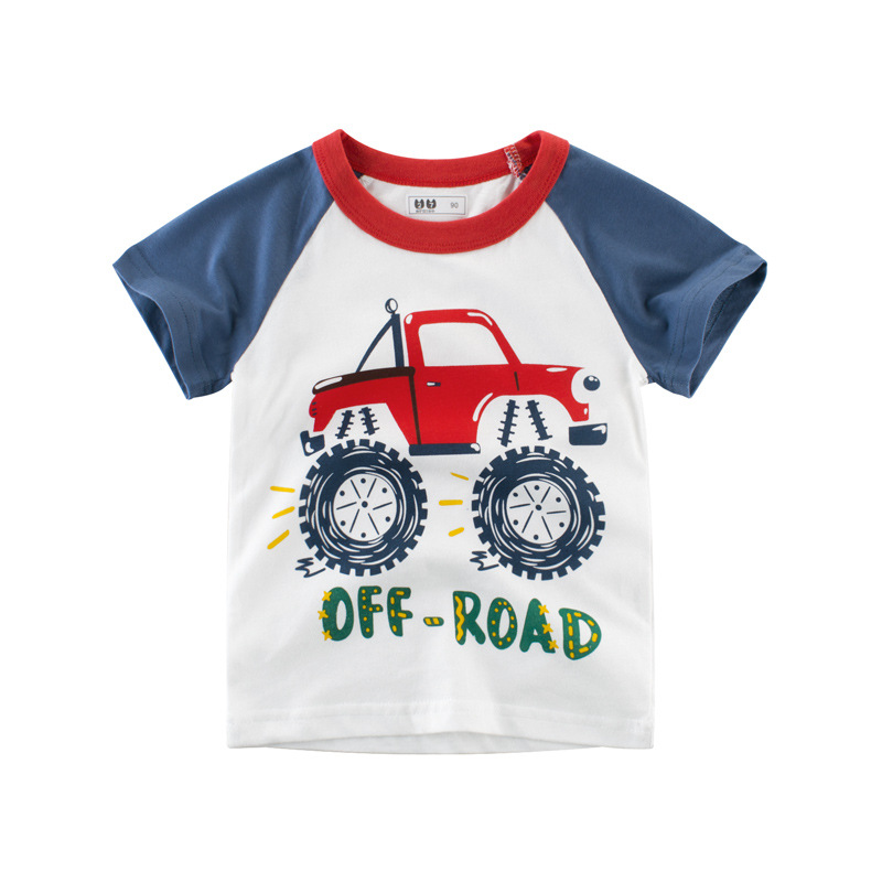 T-Shirts Kids Tops Short-Sleeve Print Toddler Baby-Boys Cotton Fashion Cartoon Summer