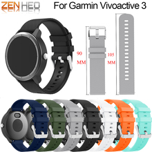Outdoor Sport Strap For Garmin Vivoactive 3 Silicone Watchband for Forerunner 645 Bracelet Replacement strap 20mm Band