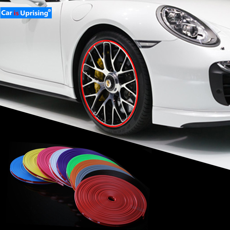 Car Wheel Protector Hub Sticker Car Decorative Strip For