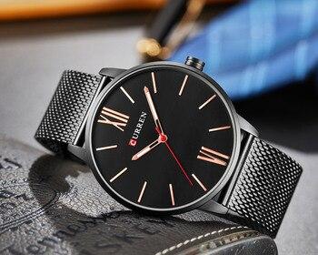 CURREN Men's Top Brand Luxury Waterproof Stainless Steel Quartz Watches 5