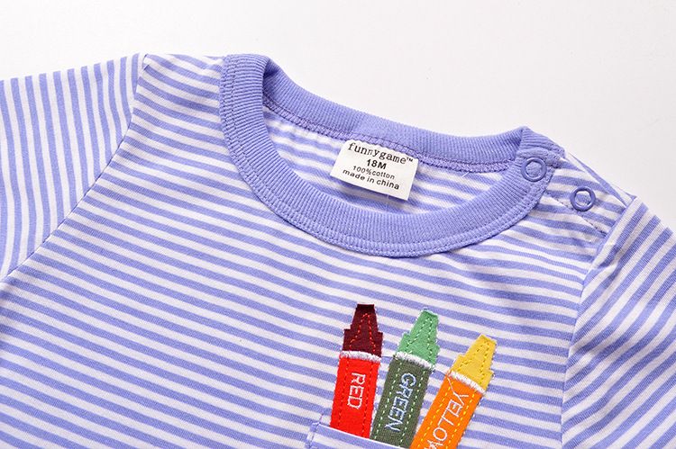 HTB1lX67PVXXXXc.XXXXq6xXFXXXR - 1-6T 100% Cotton Kids Baby T-shirt Tops Boys Girls Tee Striped T Shirt Children Tshirt Toddlers Baby Clothing 2017 Child Clothes