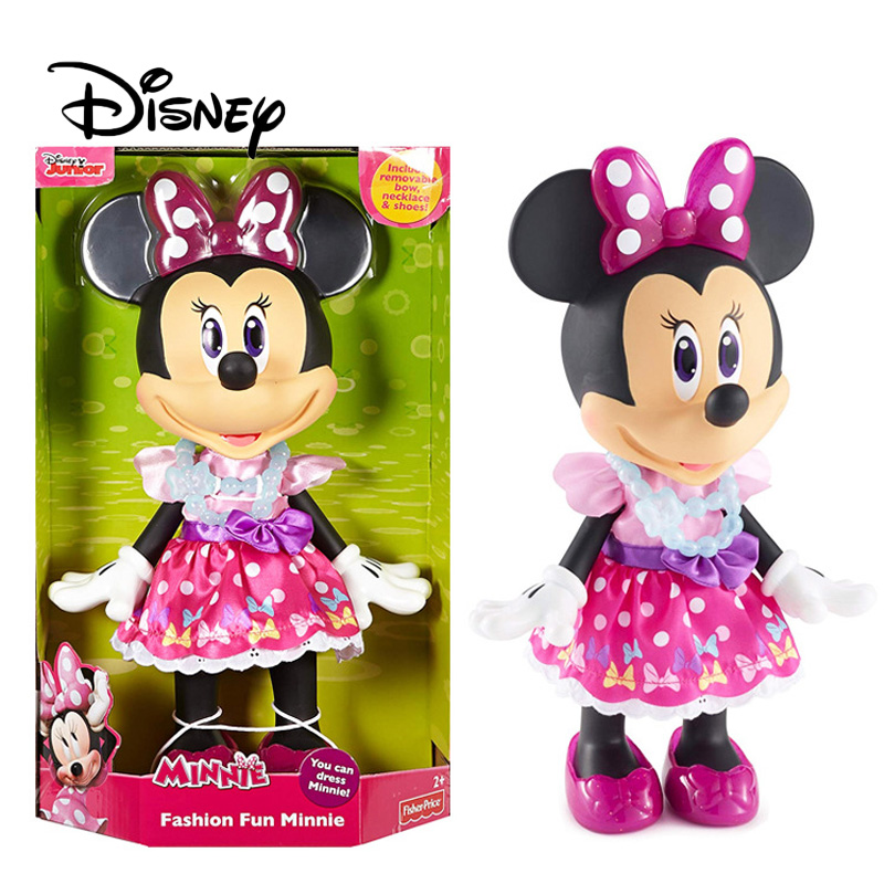 Disney Mickey Mouse 90th Anniversary Minnie Toy Doll Large Minnie Action Character Doll Girl Dress Up Toys Birthday GiftsDisney Mickey Mouse 90th Anniversary Minnie Toy Doll Large Minnie Action Character Doll Girl Dress Up Toys Birthday Gifts