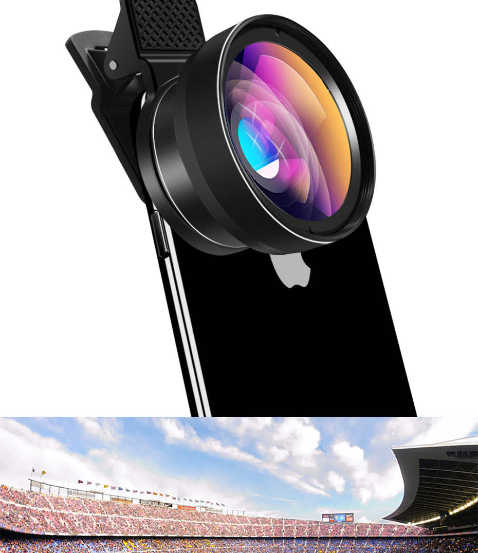 HORUG Mobile Phone Lens For Phone Smart 0.45X Wide Angle 12.5X Cell Micro Phone Camera Lens For iPhone X 8 7 Xiaomi Cellphoone (10)