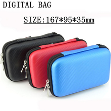 3 Color Mini Zipper Hard Digital Bag Headphone Case Diving Leather Protective Usb Cable Organizer Portable Earbuds Pouch box