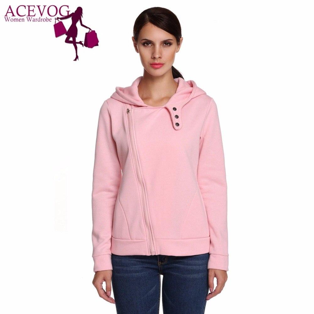 ④Acevog marca mujeres Otoño Invierno Sudaderas sudadera chaqueta de ...