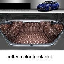цены на Lsrtw2017 Leather Car Cargo Liner Trunk Mat for Toyota Camry 2018 2019 2020 Xv70 Rug Carpet Interior Accessories Sticker  в интернет-магазинах