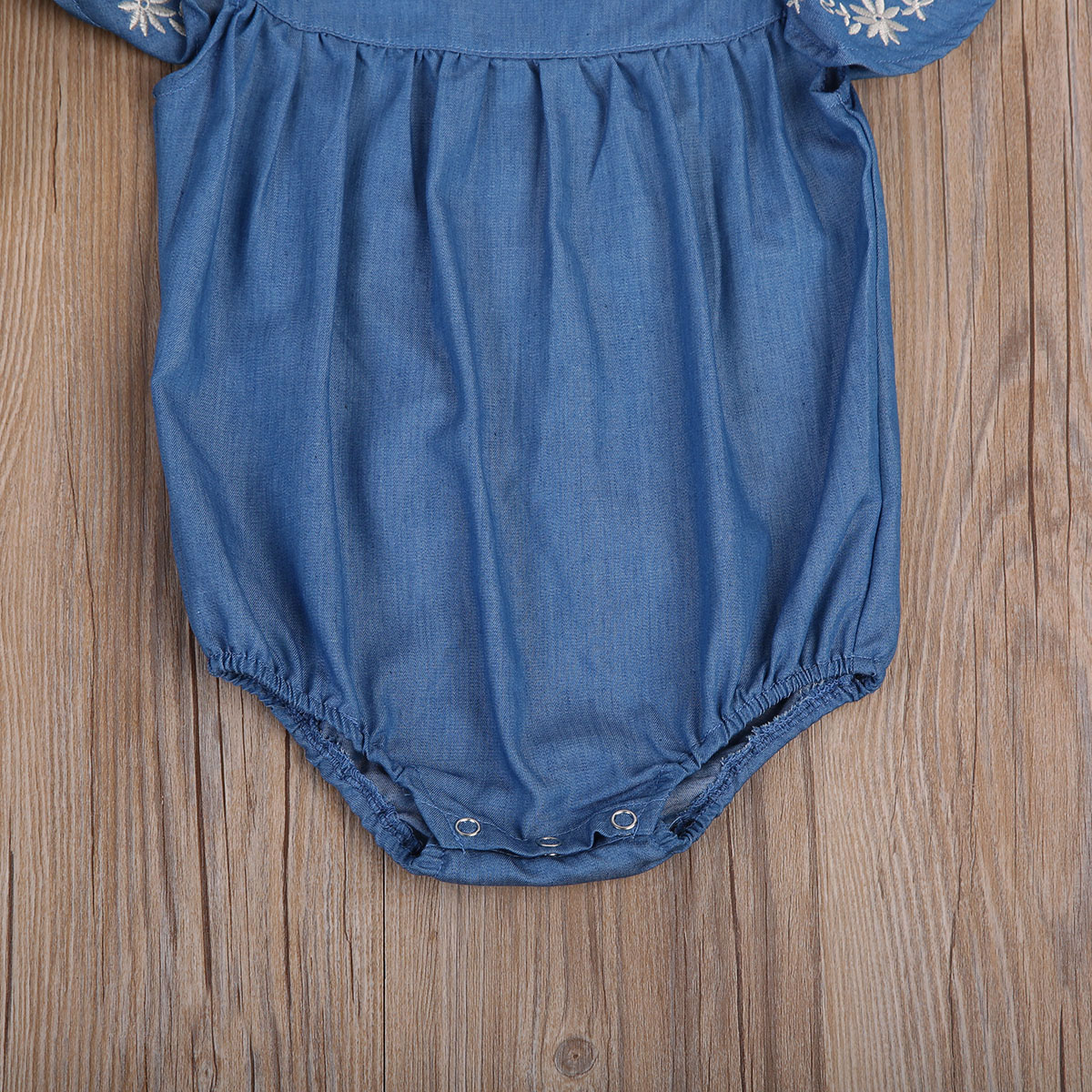 Flying Sleeve Baby Clothing Newborn Baby Girls Denim Romper Jumpsuit Outfits Sunsuit Clothes 0 24M Flying Sleeve Baby Clothing Newborn Baby Girls Denim Romper Jumpsuit Outfits Sunsuit Clothes 0-24M