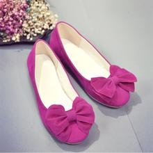 Spring Summer Top bowknot women Moccasins Shoes Nubuck Leather women Flat Shoes Casual Loafers Slip On women shoes L055