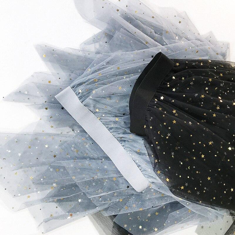 Nueva Las negro Brillo beige Malla blue Hadas Capas Primavera 2019 Mujeres Alta Asimétrica Pink Cintura Llegada De Falda La Lindo 6qS6r
