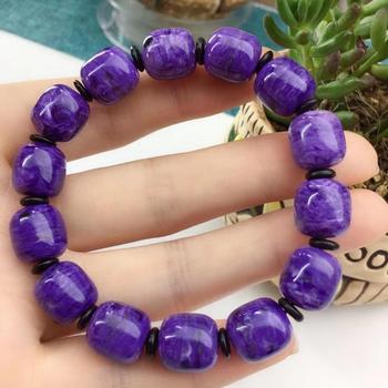 Top Quality Natural Purple Charoite Bracelet 12x11mm Barrel Beads Jewelry Charm Russian Bracelets Drop Shipping AAAAA