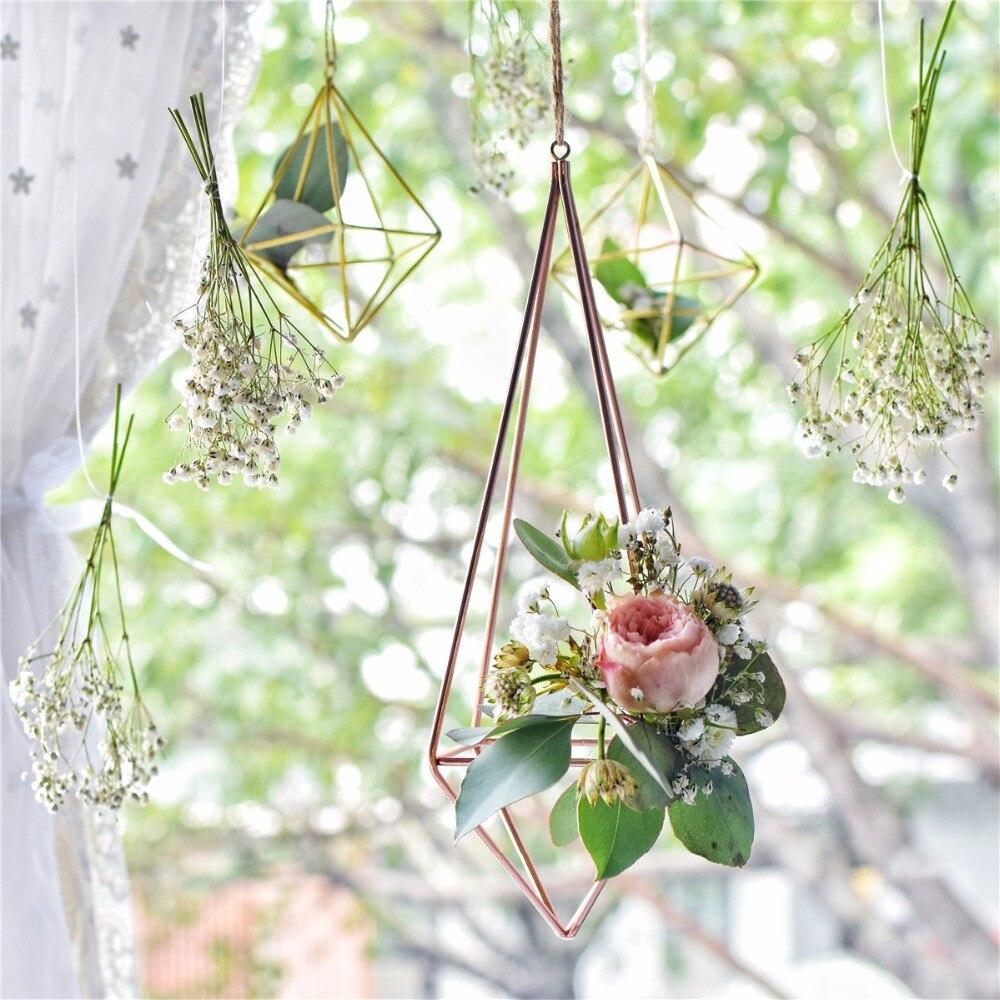 Asılı olan Asma Tillandsia Hava Bitkiləri Rack Metal Həndəsi - Bağ üçün - Fotoqrafiya 6