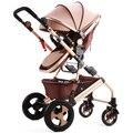 Cochecito de bebé puede sentarse y acostarse dos plegable del cochecito de bebé niños mano de alta paisaje