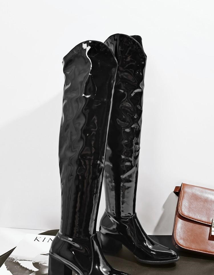 4ad52b9c7ce Riding Womens Snakeskin Knee High Boots Pull On Low Heel Cowboy Shoes  Leather C40