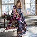 Mulheres dress verão 2017 maxi vestidos longos robe de algodão estampado floral sexy backless boho hippie chic vestidos de roupas de marca