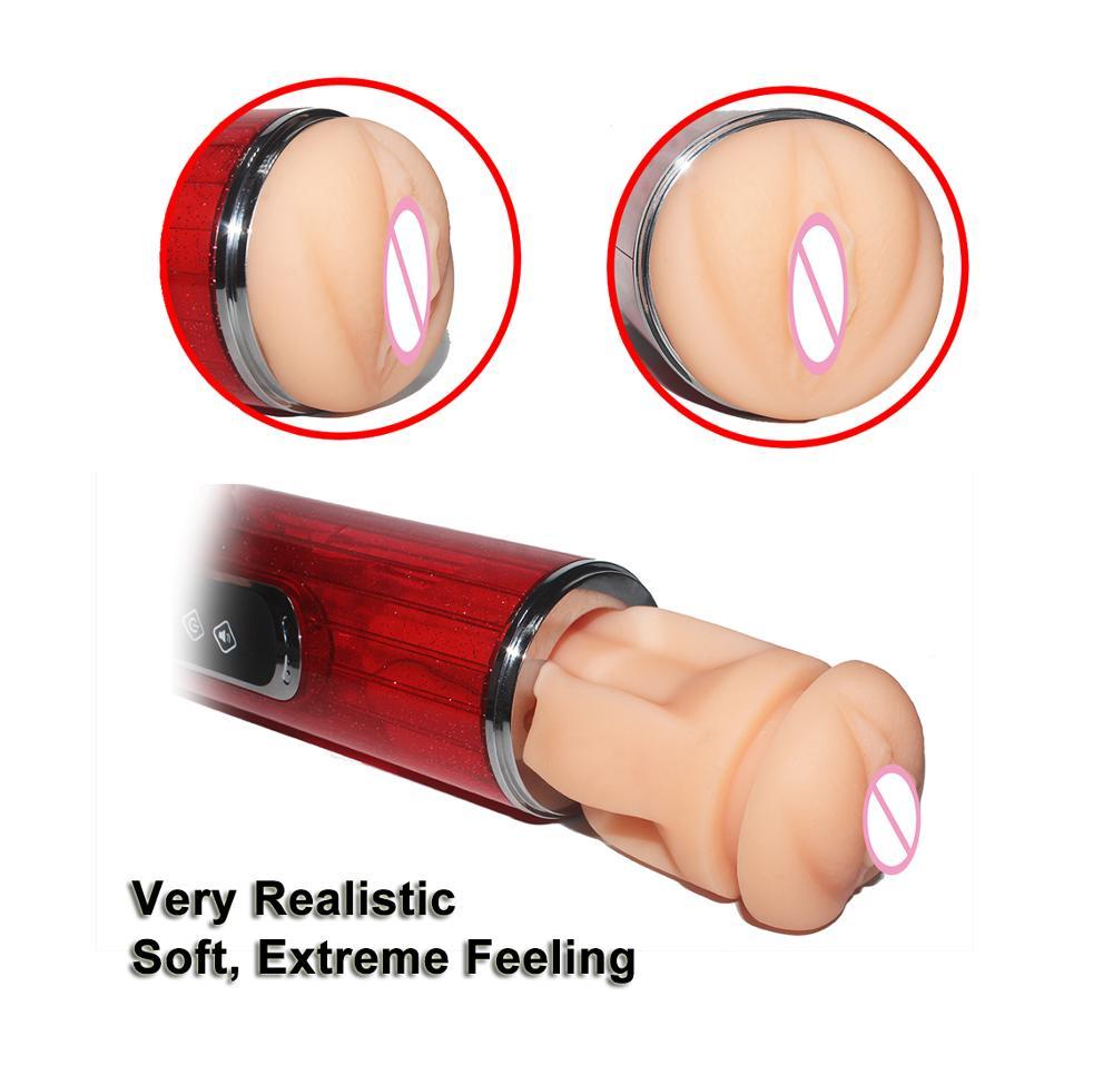 Merveilleux jouets sexuels avec long grand double trou doux vagin et bouche chatte mâle Masturbation vraie fille vagin artificiel vagin