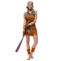 Sexy Women Indian Native Costume Adult Girls Halloween Costume Cosplay Clothing Gypsy Savage Hunter Uniform Costume