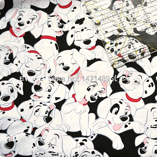 ge503 1 yard cotton woven fabric cartoon characters 101 dalmatians