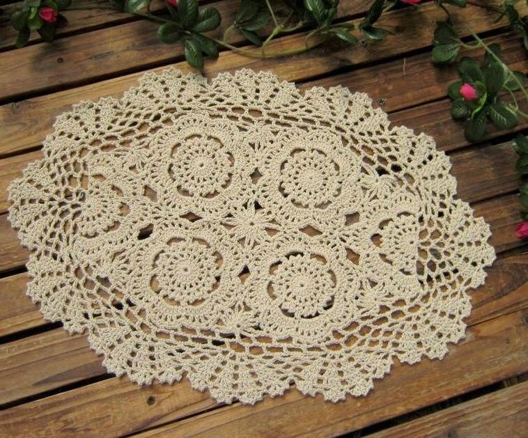 Compra oval crochet doilies y disfruta del envío gratuito en ...