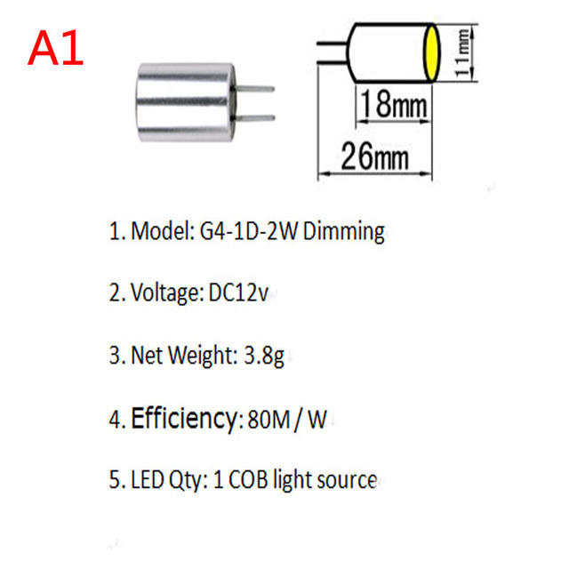 Dc12v dimming led light bulbs g4 cob 2w tower lamp spotlight dc12v dimming led light bulbs g4 cob 2w tower lamp spotlight chandelier homelighting warm white lampada mozeypictures Choice Image